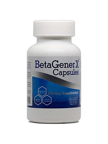 Beta Glucan 180 Capsules - BetaGenerX - 180 high quality vcaps, 500 mg (Multi-species Mushroom Beta Glucan Extract) - support immune system