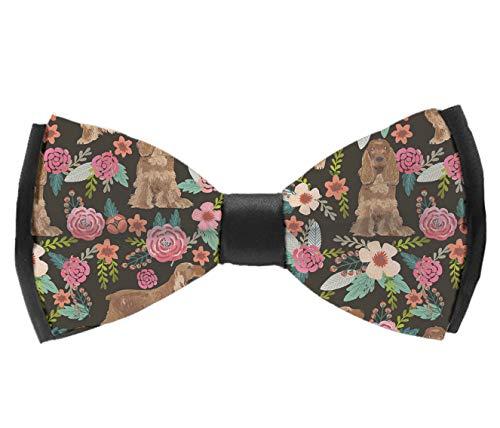 INWANZI Men's Fashion Pre-Tied Bow Tie, Adjustable Cocker Spaniel Bowtie for Wedding Holiday Party