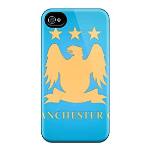 Hot Tpu Cover Case For Iphone/ 4/4s Case Cover Skin - The Best Fc Of England Manchester City