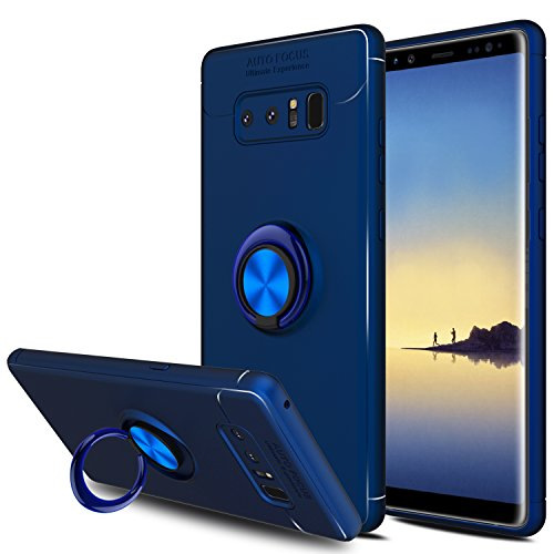 Galaxy Note 8 Case, Elegant Choise Hybrid Slim Durable Soft 360 Degree Rotating Ring Kickstand Protective Case with Magnetic Case Cover for Samsung Galaxy Note 8 / SM-N950F / SM-N950U (Blue)