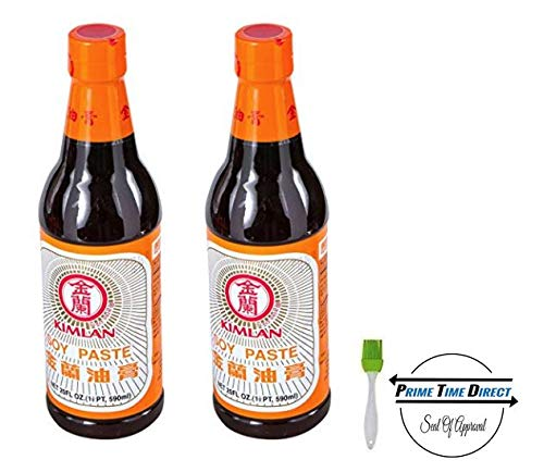 (Kimlan Soy Paste - 20 oz (Pack of 2) with Silicone Basting Brush in a Prime Time Direct Sealed Bag )