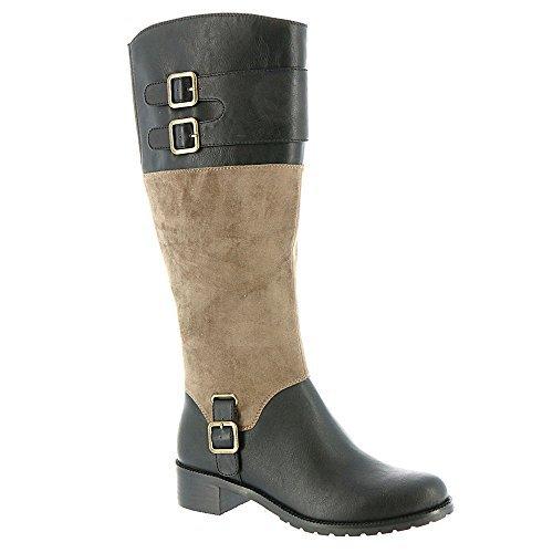 Bella Vita Women's Adriann II Tall Boot,Black/Taupe Suede,US 7.5 N