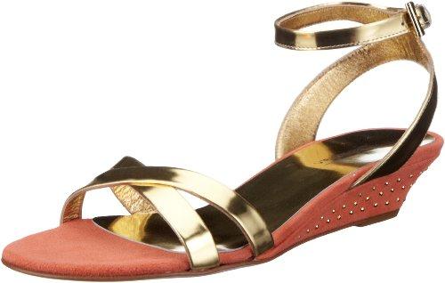 Sebastian WOMAN'S SHOE S5289 SPOR+CAAR - Sandalias clásicas de tela para mujer Dorado