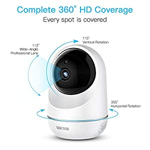 1080P Security Camera,ANBAHOME WiFi Camera Wireless IP Cam for Home Surveillance Pet and Baby Monitor with Night Vision Two Way Audio Support 128G SD Card by Shen Zhen Shi Yi Fang Kong Jian Wen Hua Fa Zhan You Xian Gong Si