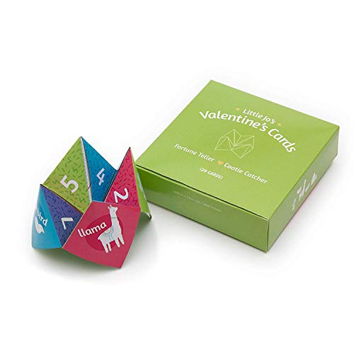 JumpOff Jo - Little Jo's Cootie Catcher/Fortune Teller Valentines - Interactive Origami Valentine's Day Cards for Boys and Girls Ages 3+ - Includes 28 Cards - Fortune Teller Cootie Catcher