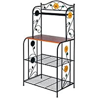 HLC Metal Bakers Rack 49-Inch 4 Tiers Storage Rack