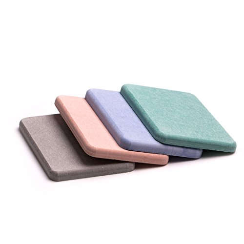 UniM Absorbent Soap Saver Holder Anti-bacterial Soap & Cup Mat Self-dry Diatomaceous Earth Mat For Home/Office Use (Multicolor)