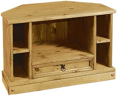Corona - Mueble esquinero para televisor (1 cajón), color pino: Amazon.es: Hogar