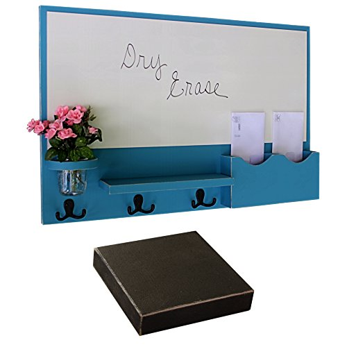 Legacy Studio Décor Mail Organizer - Large White Board - Mail Holder - Mason Jar (Distressed, Black) by Legacy Studio Decor