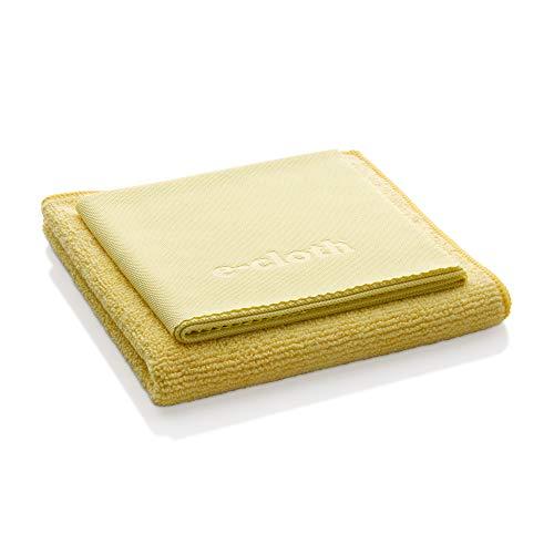 E-Cloth Microfiber Bathroom Cleaning Pack, Bathroom Cleaning Cloth & Polishing Cloth, 2 Cloth Set