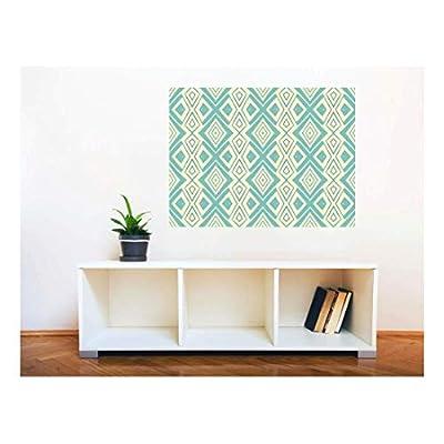Removable Wall Sticker/Wall Mural - Ethnic Modern Geometric Seamless Pattern | Creative Window View Home Decor/Wall Decor - 36