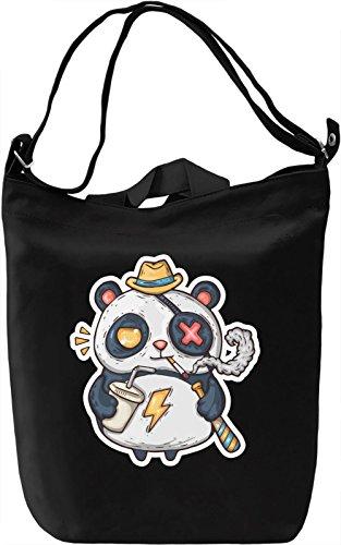 Tough panda Borsa Giornaliera Canvas Canvas Day Bag  100% Premium Cotton Canvas  DTG Printing 
