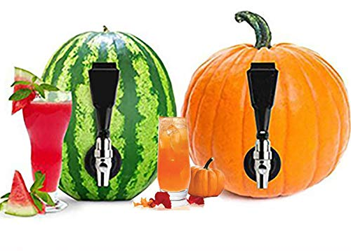 Watermelon Dispenser Keg Tapping Kit - DIY Spigot, Tap, Faucet, Spicket, Spout to Turn Melons and Pumpkins into Party Cocktails
