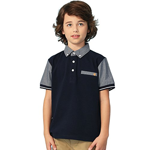 ort Sleeve Casual Rugby Polo Shirt (Navy,8) ()