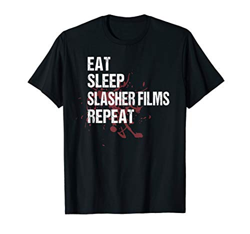 Slasher Film T Shirt Funny Bloody Horror Movie Gift Shirt