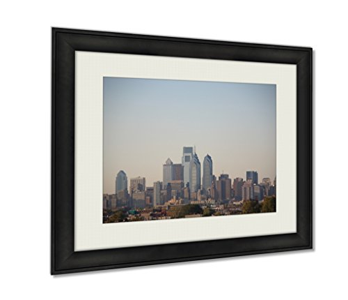 (Ashley Framed Prints, Philadelphia Skyline, Wall Art Decor Giclee Photo Print In Black Wood Frame, Ready to hang, 16x20 Art, AG5630788)