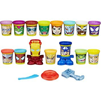 Play-Doh Marvel Super Smash-Up with Can-Heads (15 cans)