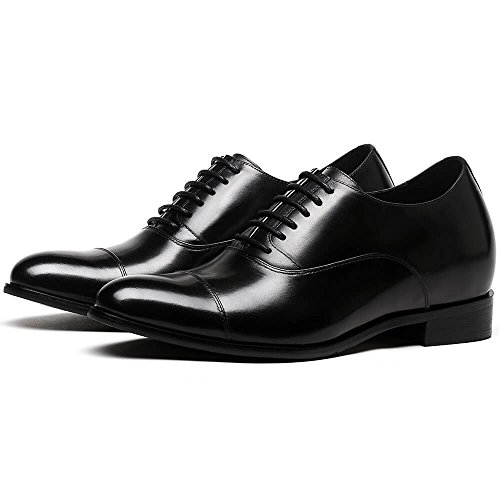 Dress 2 Height Shoes CHAMARIPA Shoes 76'' Increasing Taller Elevator Men Black zZxwwqT8