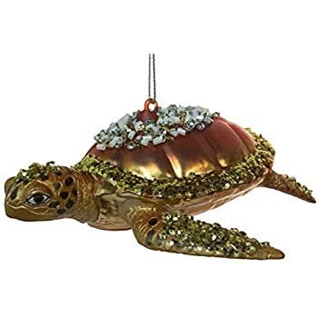Amazon.com: 5 Inch Sea Turtle Blown Glass Christmas ...