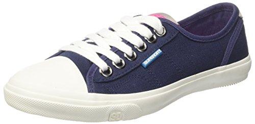 Superdry Low Pro, Zapatos de Cordones Derby para Mujer Blu (Deep Indigo)