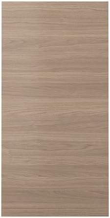 Ikea Brokhult Porte Effet Noyer Gris Clair 60x120 Cm