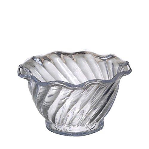 Dessert Merchandiser (Gessner Products Company 06-0506 Swirl Dessert Bowl Clear 5 oz (1 EACH))