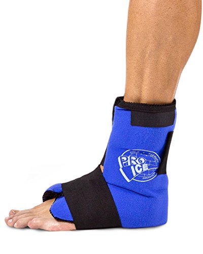 PRO ICE COLD THERAPY PRODUCTS Ankle/Foot Ice Therapy Wrap – Perfect for Sprained Ankles, Plantar Fasciitis, Achilles tendonitis, and Swelling Feet - Ice Packs Included Cold Therapy Foot
