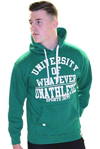 University of Whatever Hoodie Mens Unathletic Kelly Green L (80s Groupies)