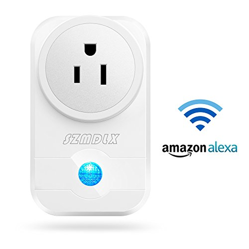 SZMDLX Wifi Smart Plug, Wifi Outlet Wireless Socket Works with Amazon Alexa Google Home, No Hub Required, Remote Control Outlet with Timing Function (1 Pack)