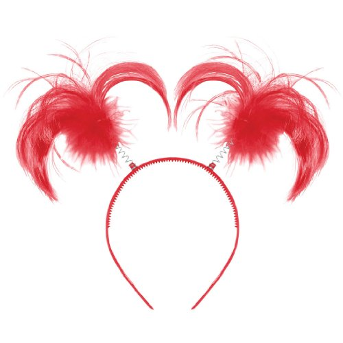 Amscan Ponytail Headband, Party Accessory, Red
