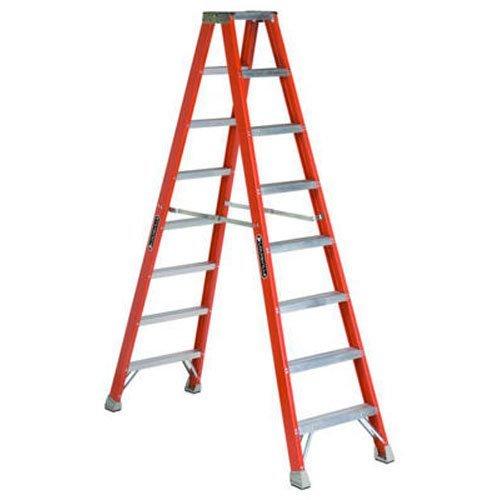 Twin Step Ladder Platform (Louisville Ladder FM1508 Fiberglass Twin Front Ladder, 8-Feet, 300-Pound Duty Rating)