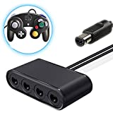 GameCube Controller Adapter For Switch Wii U PC, 4 Ports New Version With Turbo Mode, Use For Super Smash Bros, Mario Kart, Mario Odyssey, Up to 8 people online