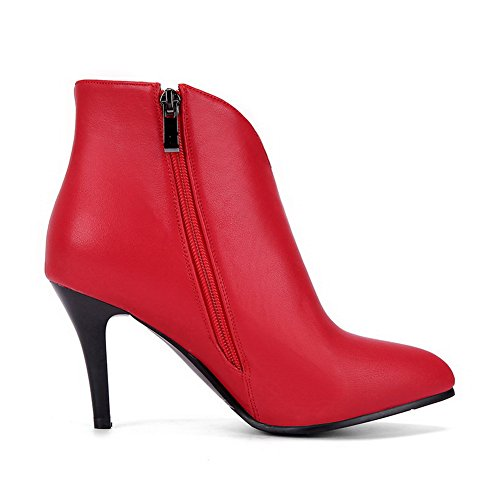 BalaMasa ABL10244 Pointed Resistant Dress Toe Urethane Red Slip Womens Boots xqZafAw