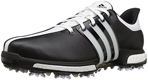 adidas Men's Tour 360 Boost Cblack/FTW Golf Shoe, Black, 10.5 M (Black Boost)