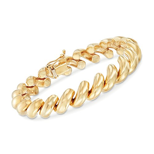 Ross-Simons 14kt Yellow Gold San Marco Bracelet
