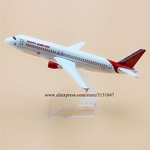 ZAMTAC 16cm Alloy Metal Air India Airlines A320 Airplane Model Airbus 320 Airways Plane Model Aircraft Kids Gifts