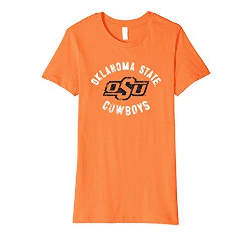 Womens Oklahoma State University Ncaa Womens T Shirt Scx04ok Medium Orange