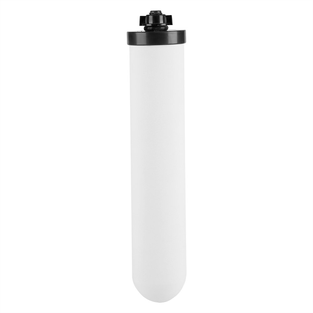Countertop Drinking Water Filtration System, Ceramic Carbon Water Purifier Filter Element with 1/4in Water Outlet Filtration System Purify Replacement Part Zerodis