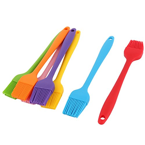 uxcell Family Bakery Cookie Cake Baking Tool Cream Butter Pastry Brush 7pcs Assorted Color by uxcell