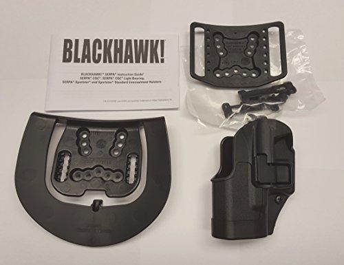 BlackHawk CQC SERPA Left Hand Belt Holster for Glock 26/27/33, Matte Black (Belt Loop and Paddle) - 410501BK-L