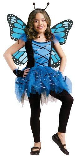 Ballerina Butterfly Child Costume - Blue (Ballerina Halloween Costume Makeup)