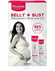Mustela Belly & Bust Pregnancy Skincare Set, Stretch Marks Prevention Cream and Bust Firming Serum, with Natural Avocado Peptides, 2 Items