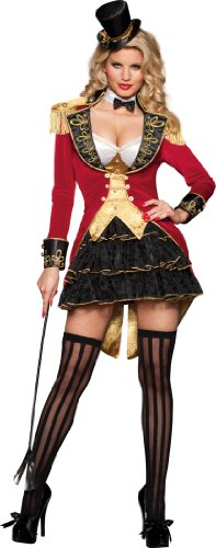 InCharacter Costumes Women's Big Top Tease Burlesque Costume, Red/Black/Gold, X-Small - Wonder Woman Petite Costume