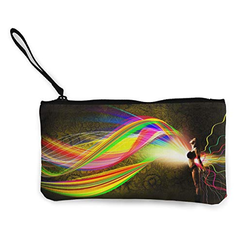 Oomato Canvas Coin Purse Cool Backgrounds Cosmetic Makeup Storage Wallet Clutch Purse Pencil Bag]()
