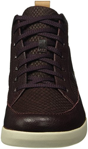 Clarks Women's Tri Amber Sneakers Purple (Aubergine Combi Leather) njjebYNoT