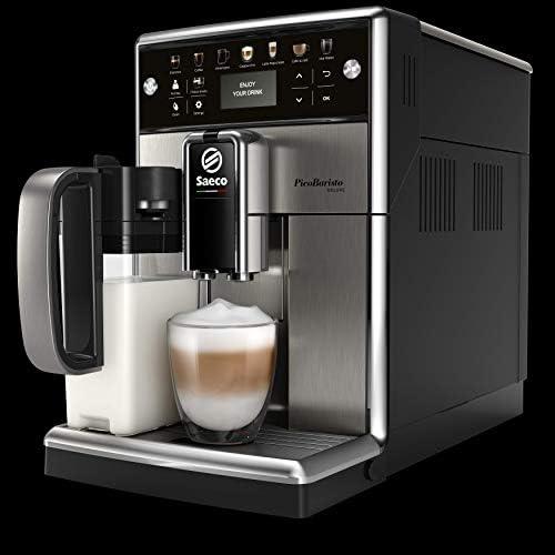 Saeco PicoBaristo Deluxe SM5573/10 Machine à expresso automatique inox avec carafe à lait et boutons tactiles