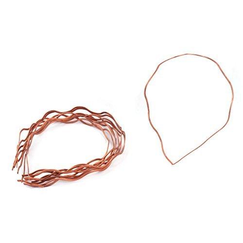Forma eDealMax Mujeres Metal Grande de la onda Hairband Headwear del ornamento del Pelo del ARO de 10pcs tono de cobre