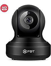 FDT WLAN Kamera Überwachungskamera HD 1080P IP Kamera, Smart Home Kamera mit Schwenk/Neige/Zoom WiFi überwachungkamera with Infrarot-Nachtsicht und 2Wege Audio,Baby Haustier Kamera,FD8901,Schwarz
