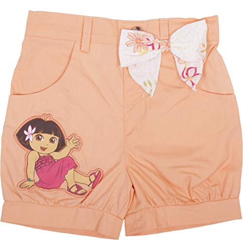 Dora The Explorer Coral Shorts with Bow - Toddler (2T) Orange