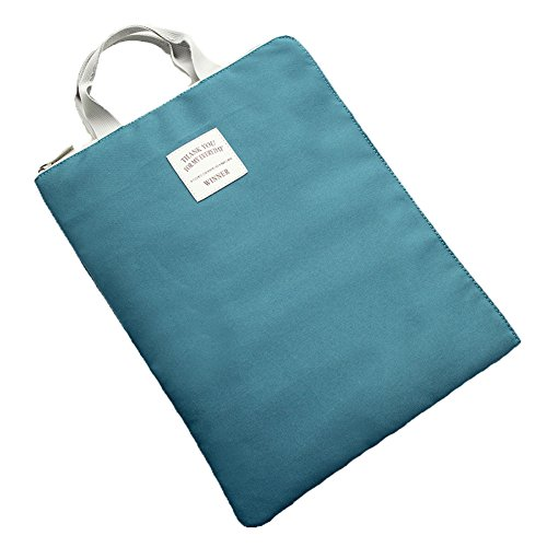 KARRESLY Waterproof A4 Document Organizer Bag Tote Holder File Folder iPad Bag for Men Women(Cyan)